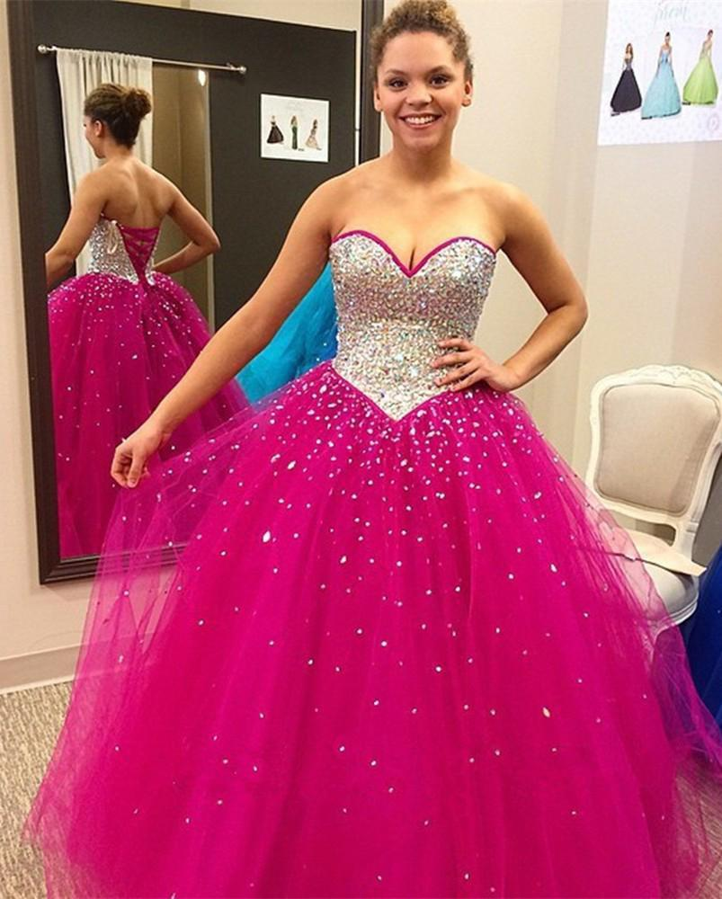 2016 New Vestidos 15 Anos Quinceanera Dresses Sweetheart Beaded ...
