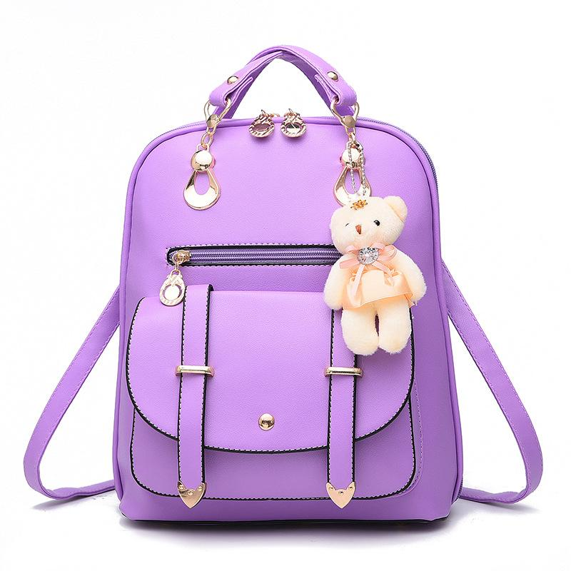 ZOORON 2017 Women Backpack New Spring And Summer Students Backpack Girls Korean Style Backpacks With Bear High Quality