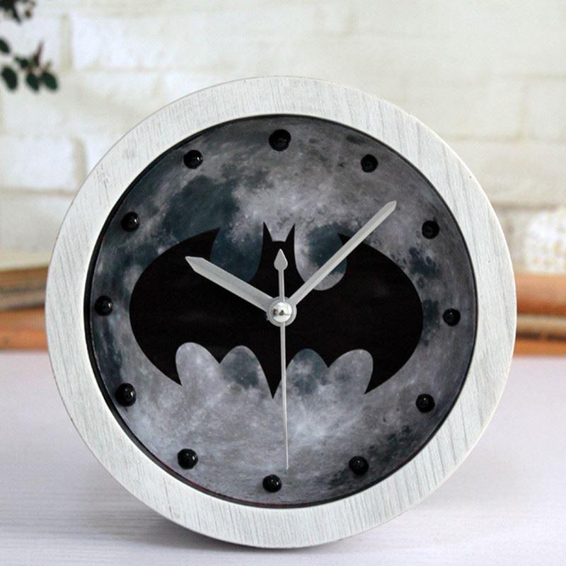 2018 Modern White Wood Clock Dual 3d