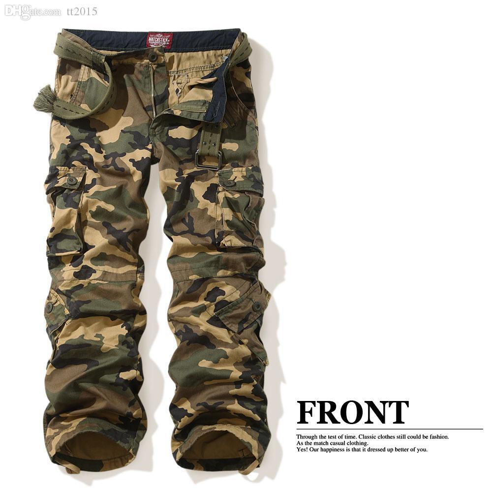 206dc8d0 Wholesale-Matchstick Mens Army Camo Design Pants Training Cargo Pocket Sz  30 32 34 36 38 40 42 44 3357M