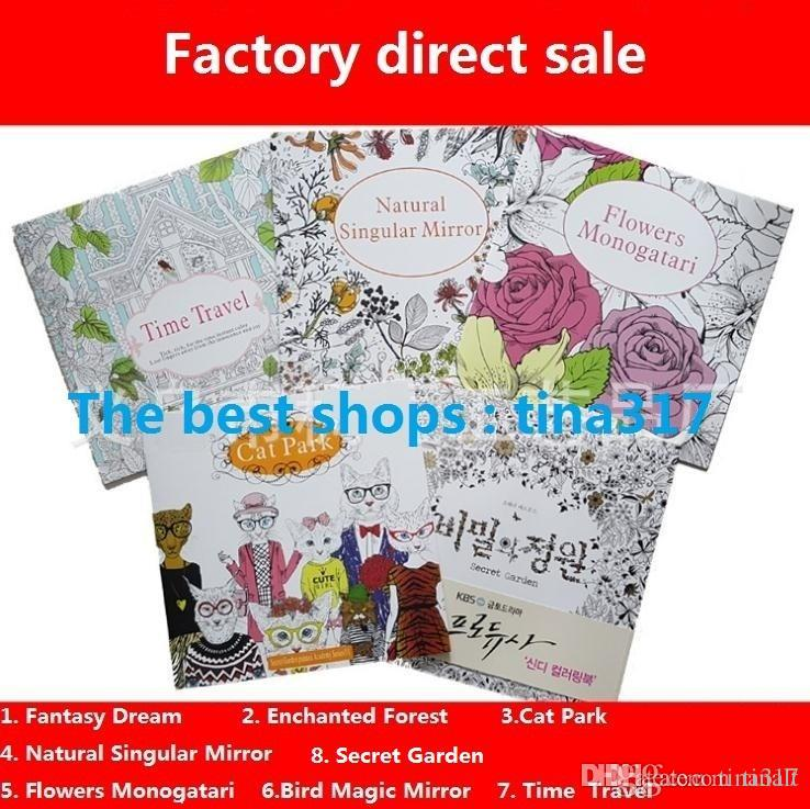 2016 Secret Garden Adult English Decompression Hand Painted Color In Coloring Book Enchanted Forest Children Painting Books 1762 Kid
