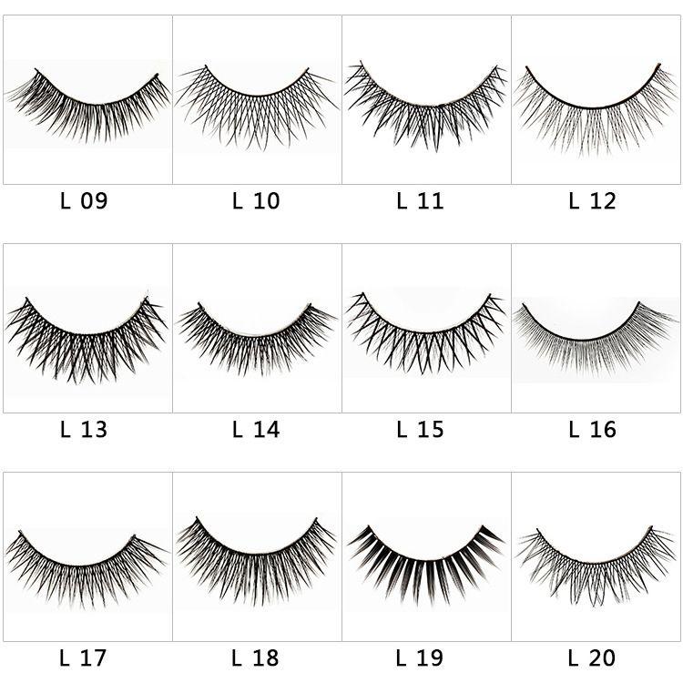 20 styles vison faux cils 3d croix épais épais faux cils extension es / boîte maquillage des yeux super naturel long faux faux cils