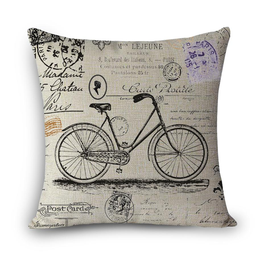 Wholesale Myj A16 Throw Pillow Without Inner Design Print Bicycle ...
