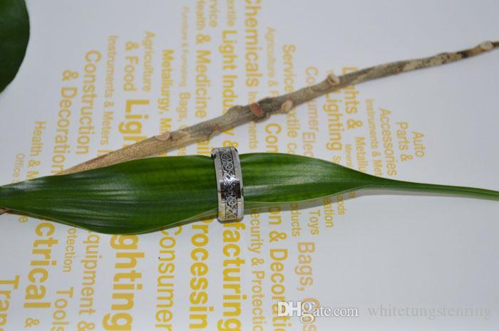 Дракон инкрустированные карбида вольфрама кольца серебряные инкрустированные кольца обручальные кольца