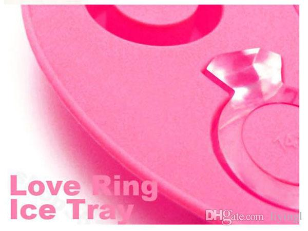love ring ice cube ice tray silicone cake jelly choclate molds for baking bridal showers favors wedding party ice cream fondant decoration