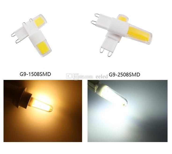 Mini G9 COB LED Corn Light AC 220V 110V 3W COB 1508 2508 LED Dimmable White Warm White Bright Spotlight Crystal Chandelier Lighting