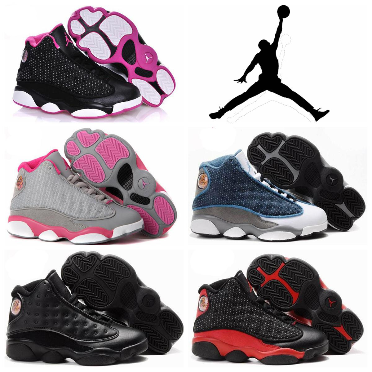 ff6e2385831 ... wholesale nike air jordan xiii 13 retro kid children shoes new white  wine red 9367a 56855