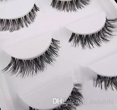 NEW ARRIVAL Black Natural Cross Fake False Eyelash Soft Long Makeup Eye Lash Extension