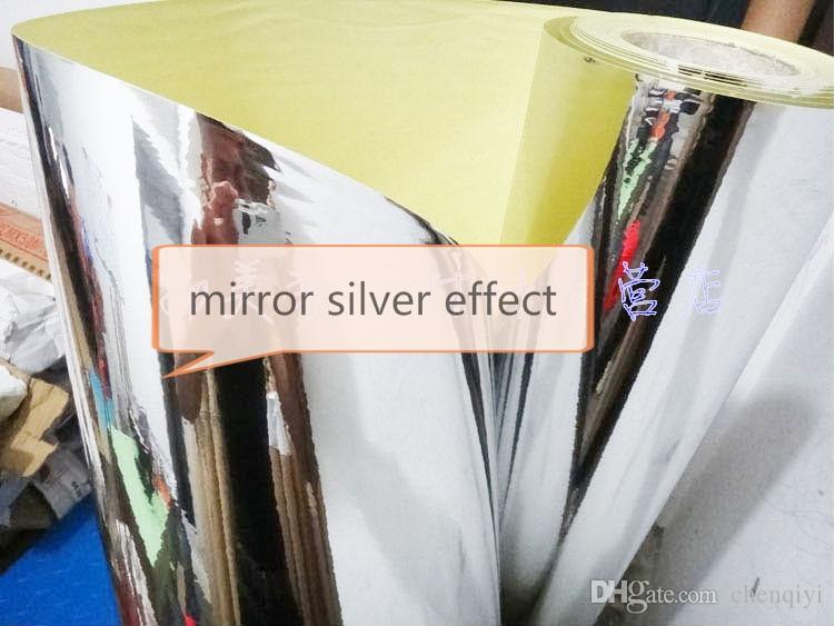 5mx61cm home decor silver mirror reflective effect new wardrobe cabinets waterproof PVC self-adhesive wall paper furniture wall stickers