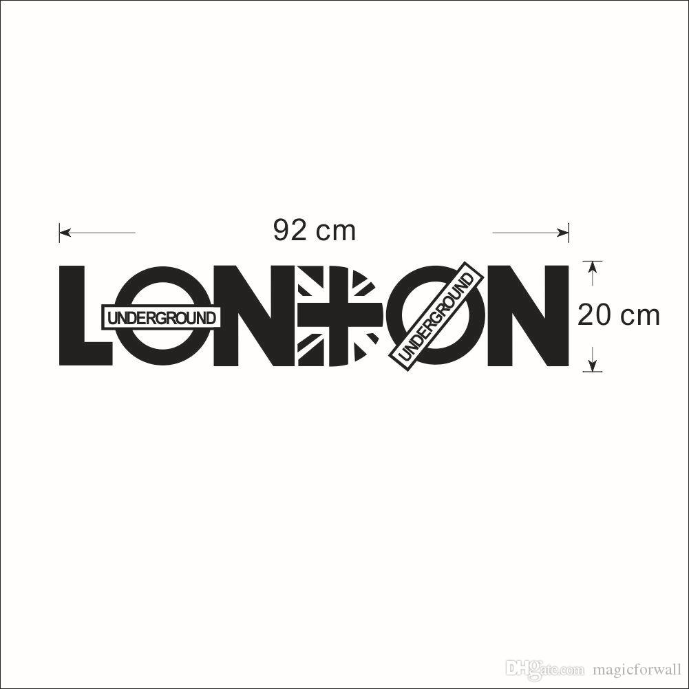English Letter London Wall Art Decal Sticker London Wall Quote Decor Poster Living Room Bedroom Home Decoration Wallpaper Decal