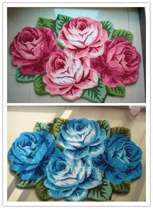 rose rug flower shaped rug flower carpet 4 rose rug soft carpet door