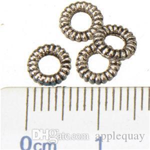 مجوهرات اكسسوارات الفواصل أساور أساور جعل دائرة ديزي فاصل الخرزة diy خمر الفضة مطلي معدن الأزياء 6 ملليمتر 1000 قطع السفينة مجانية