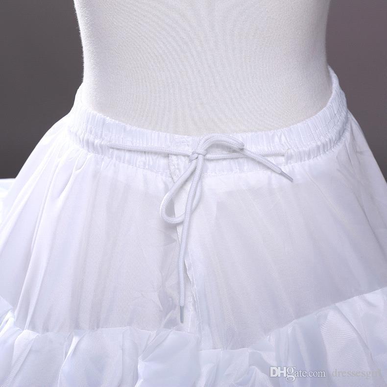 En stock Cuatro aros Cinco capas Enaguas Resbalón nupcial Crinolina Para vestidos de bola Quinceanera / Boda / Vestidos de baile Envío gratuito CPA210