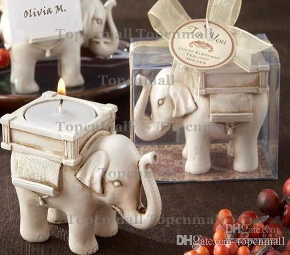 Kostenloser Versand Glück Elefanten Kerzenhalter Teelicht Kerzenhalter Hochzeit Geburtstagsgeschenke
