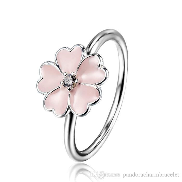 Online Cheap 925 Sterling Silver Rings Primrose Cubic