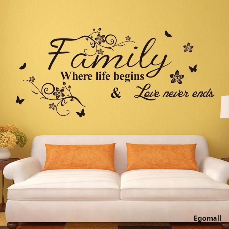 Creativity Family Wall Stickers Home Decor Adesivo De Parede Vinyl ...