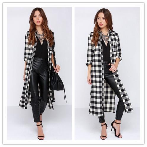 2018 Women New Fashion Maxi Long Shirt Long Sleeve Boyfriend Style ...