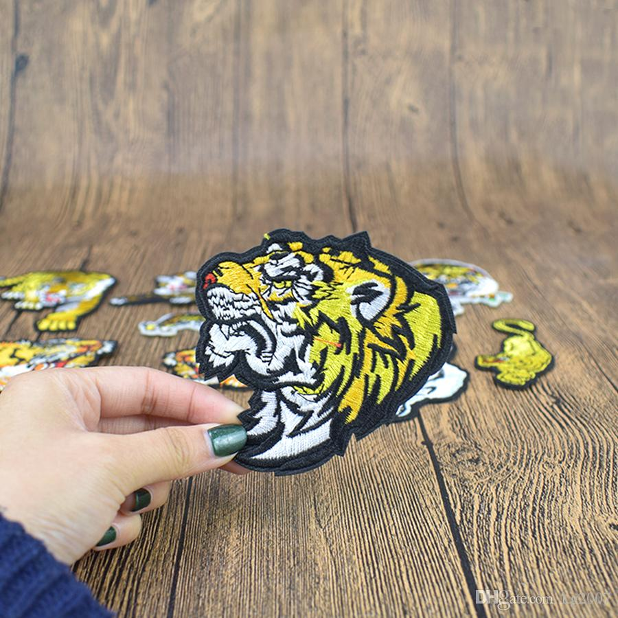 Tiger Embroidered Patches for Clothing Iron on Transfer Applique Insect Patch for Jacket Jeans DIY Sew on Embroidery Sticker