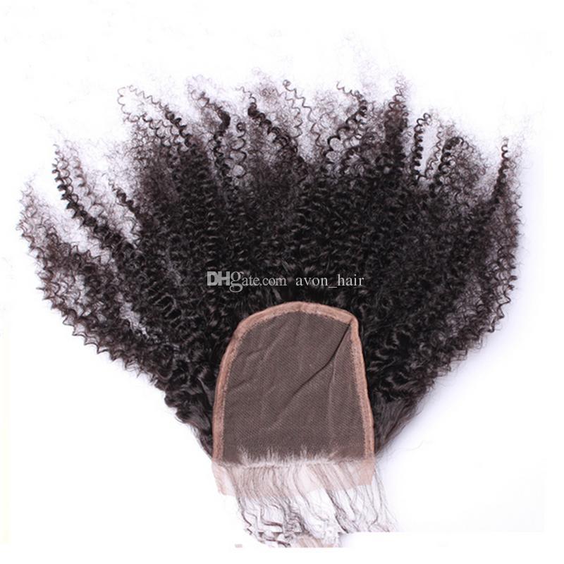 الأفرو غريب مجعد الشعر التمديد مع إغلاق جزء الحرة المنغولية العذراء الإنسان الشعر غريب مجعد 3 حزم مع إغلاق الدانتيل 4x4
