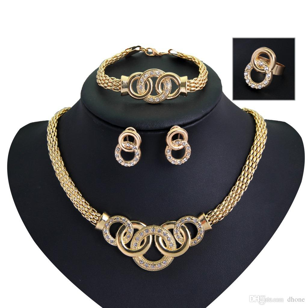 2018 Dhl Wholesale Women Egypt Jewelry Set Gold Lobster Casp ...