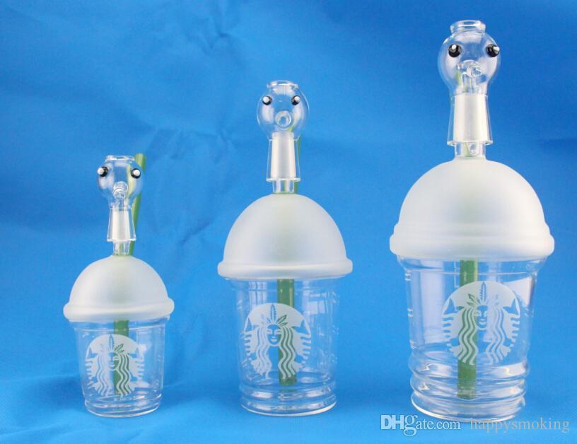 Dabuccino rig Sabbiata Starbuck Cup dab Concentrato Oil Rig HITMAN GLASS X EVOL GLASS DABUCCINO CUP canapa fimble foglia 10mm 14.5mm 18mm