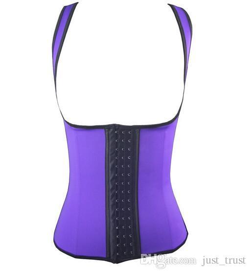 Sexy Waist Training body shapers Women Grand Rubber Corset Sports steel bone bustier crop Plus size S-6XL