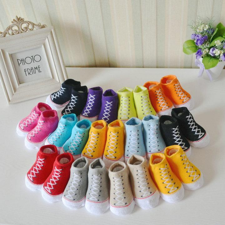 Newborn Baby Girls Terry Socks Shoe Socks Sneaker Socks 0 6m Girls