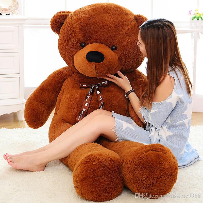2018 120cm Dark Brown Giant Teddy Bear Plush Toys Life Size Teddy ...