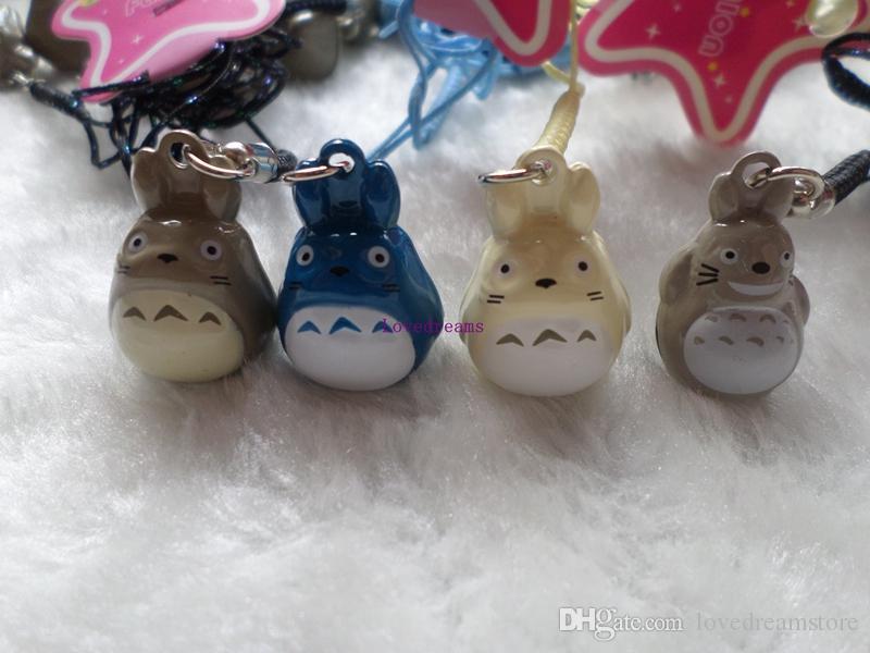 Yeni 80 adet Sevimli Japon anime Komşum Totoro Baba anahtar zincirleri Karikatür Cep Telefonu Askı Bell Charm Hediye