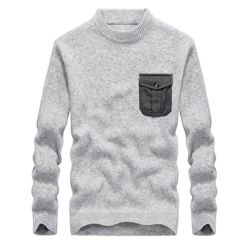 Acquista Pocket Moda Pullover Maglione 2018 Uomo Cotton B6qBawC