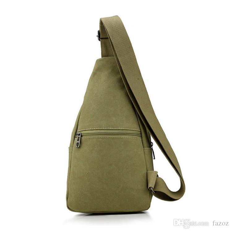 New Style Men Casual Canvas Chest Bag Single Shoulder Unbalanced Sling Pack Crossbody Backpack High Quality Male Bag