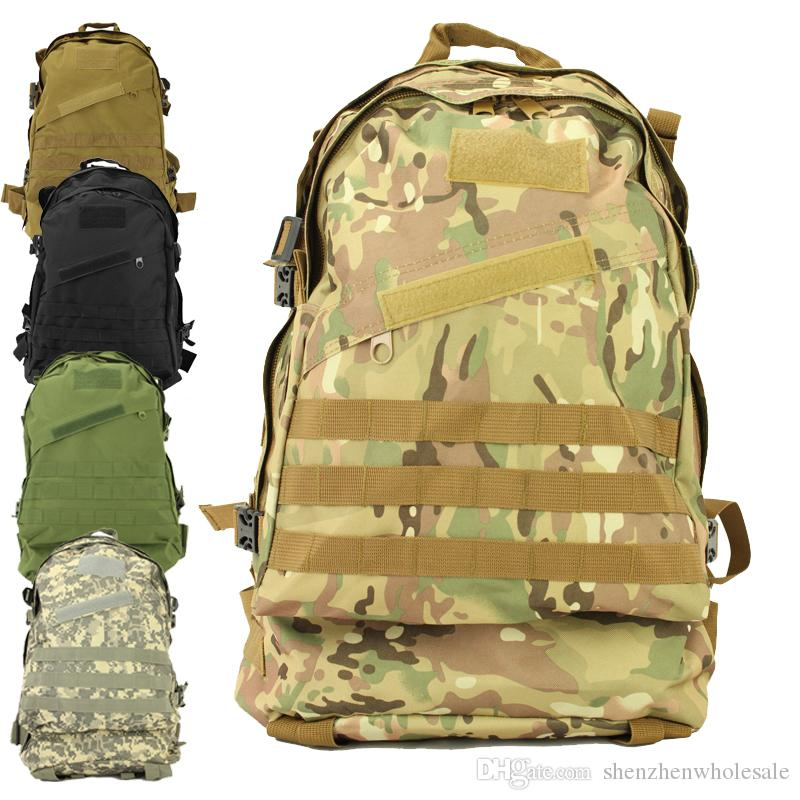 New Unisex Sports Outdoors Molle 3d Military Tactical Backpack Rucksack Bag Camping Traveling Hiking Trekking 40L Free DHL/Fedex