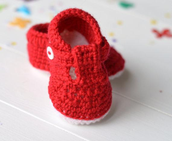 crochet baby slippers crochet baby shoes t bar baby sandals for baby