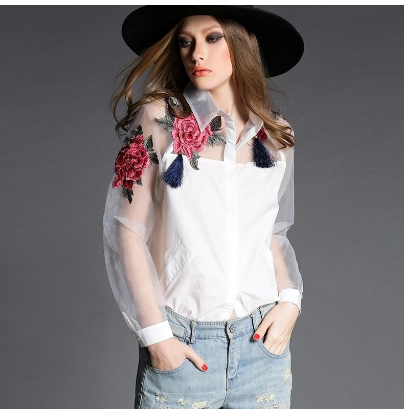 High-end Quality Women Shirt 2017 Autumn Fashion Ethnic Floral ...