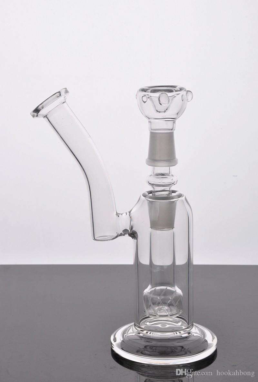 2016 gute diffusion Glas Bubbler Glas wasserpfeife mit Glasschüssel nagelhaube und adapter Zwei funktionen Gute glatte schläge Kostenloser Versand