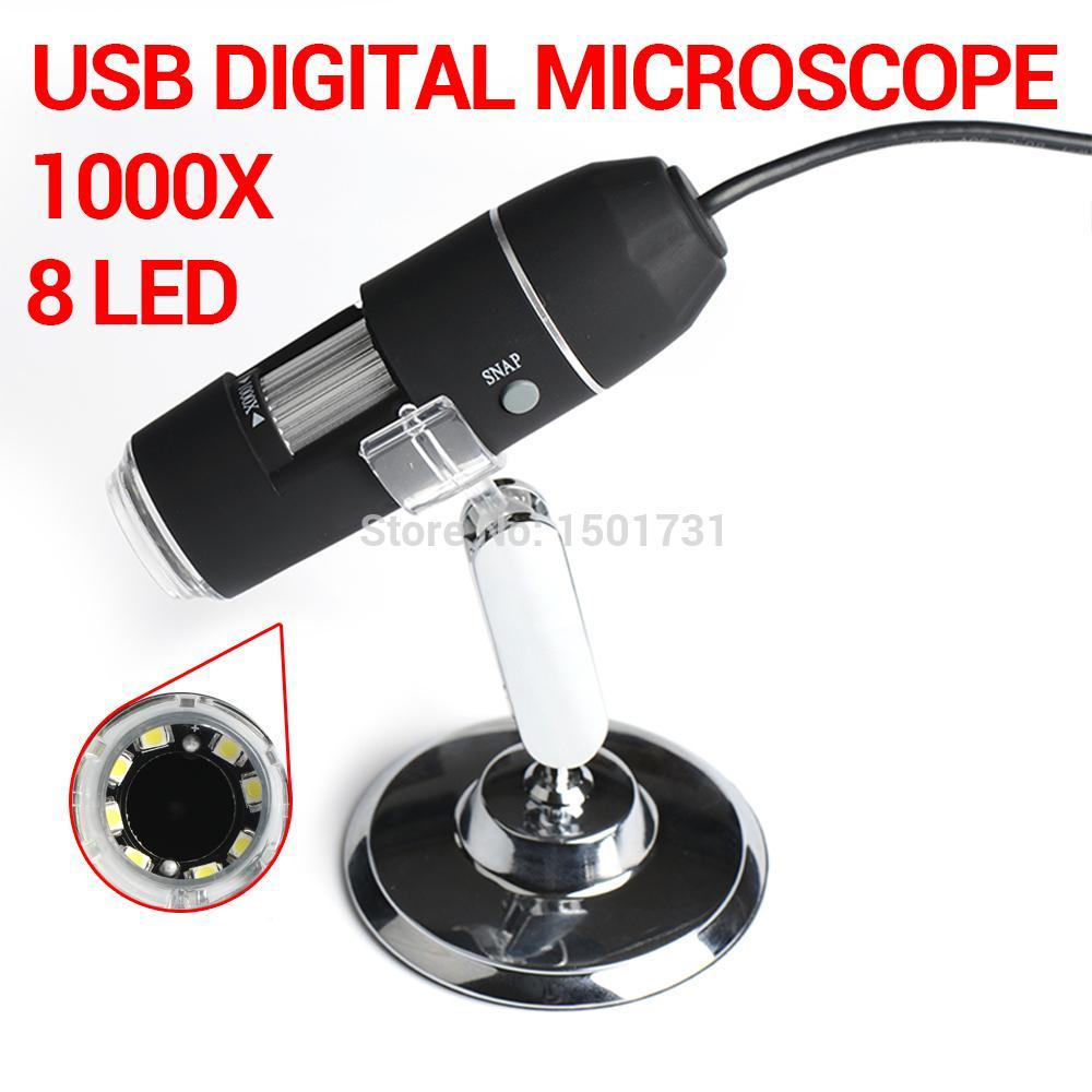 Max 1000x Usb Digital Microscope 8 Led Endoscope Usb Microscope With