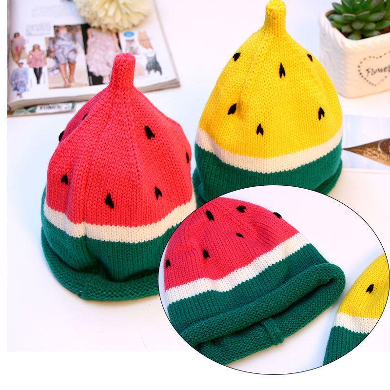 New Toddler Kids Girl Boy Cute Watermelon Hat Baby Infant Winter Warm  Crochet Knit Hat UK 2019 From Shuangxi10 98b967022674