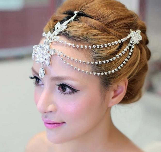 Bridal Hair Accessories Spring 2015 Pretty Headpieces With Rhinetone Hand Made Flowers Wedding In Stock Pearls