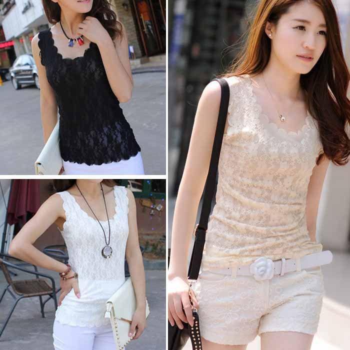 d2a59de5c 2019 New Girls Women Crochet Hollow Out Lace Sleeveless T Shirt Tank Top  Vest Just For You From Shenyan02, $6.82 | DHgate.Com
