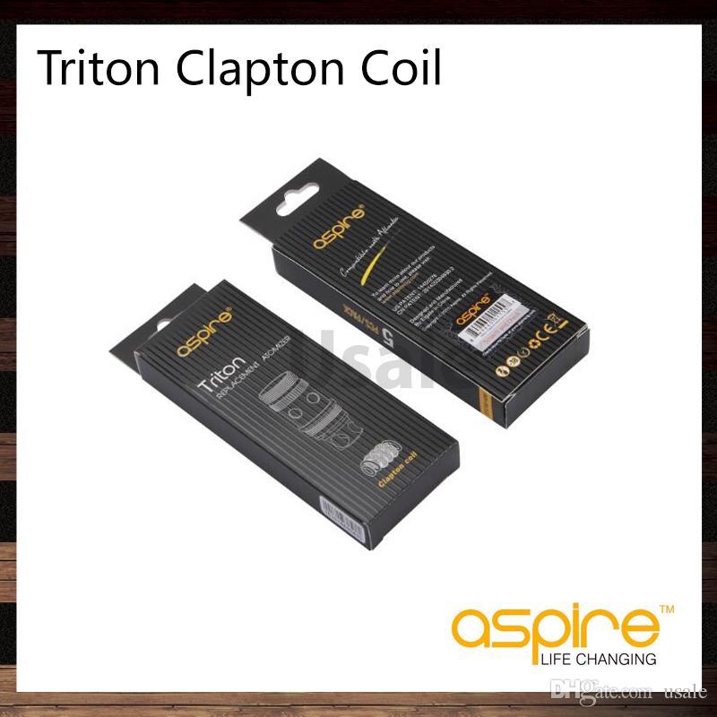 Aspire Triton 2 0.5 ohm Clapton bobine Sostituzione testa bobina Triton 2 Tank Atlantis Atomizzatore 100% Originale