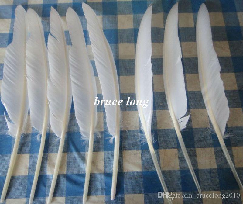 白いガチョウの羽トルコの羽の羽のジュエリークラフト帽子マスクの装飾羽20-30cm