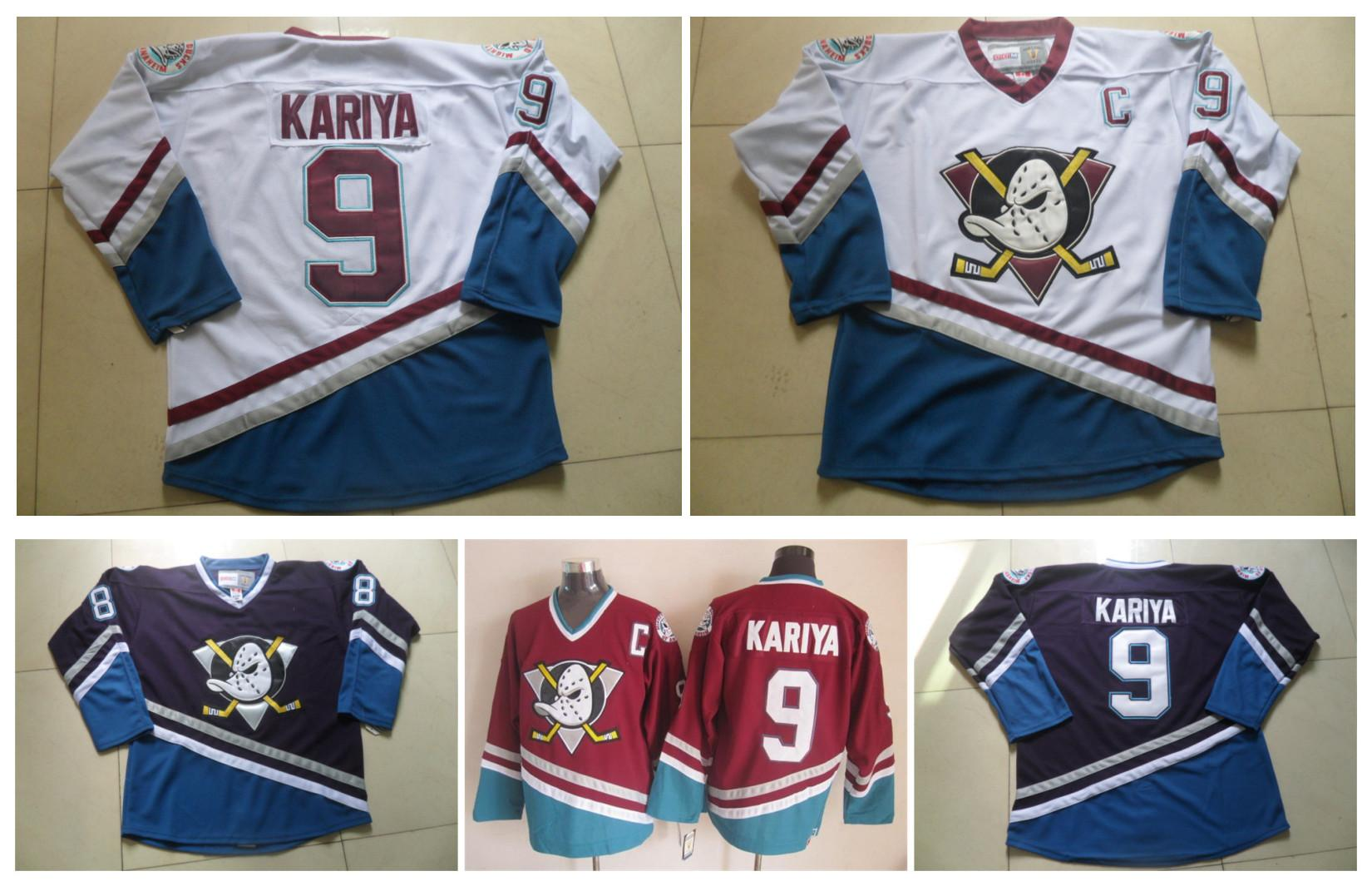 f22e4b661 ... uk 2017 mens ccm ice hockey jersey cheap mighty ducks 9 paul kariya  jersey vintage throwback