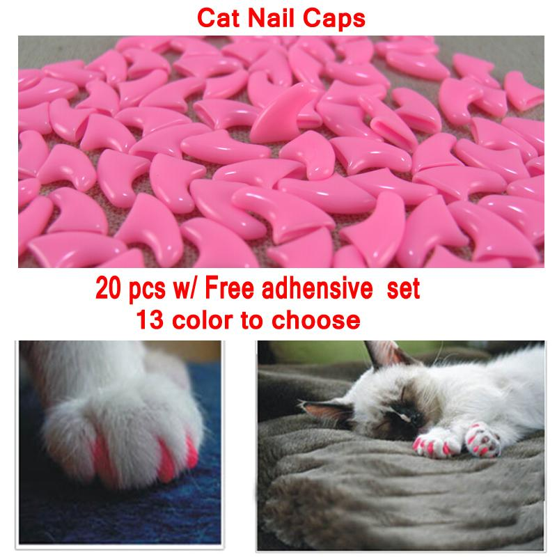 2018 Light Pink Solid Color Cat Nail Caps For Cat Claws Control Paws ...