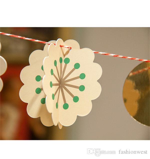 Wedding Tags Photo Booth Props Birthdays Wedding Decorations New Rainbow Colors Hanging Paper Chain Flower Wedding Birthday Party