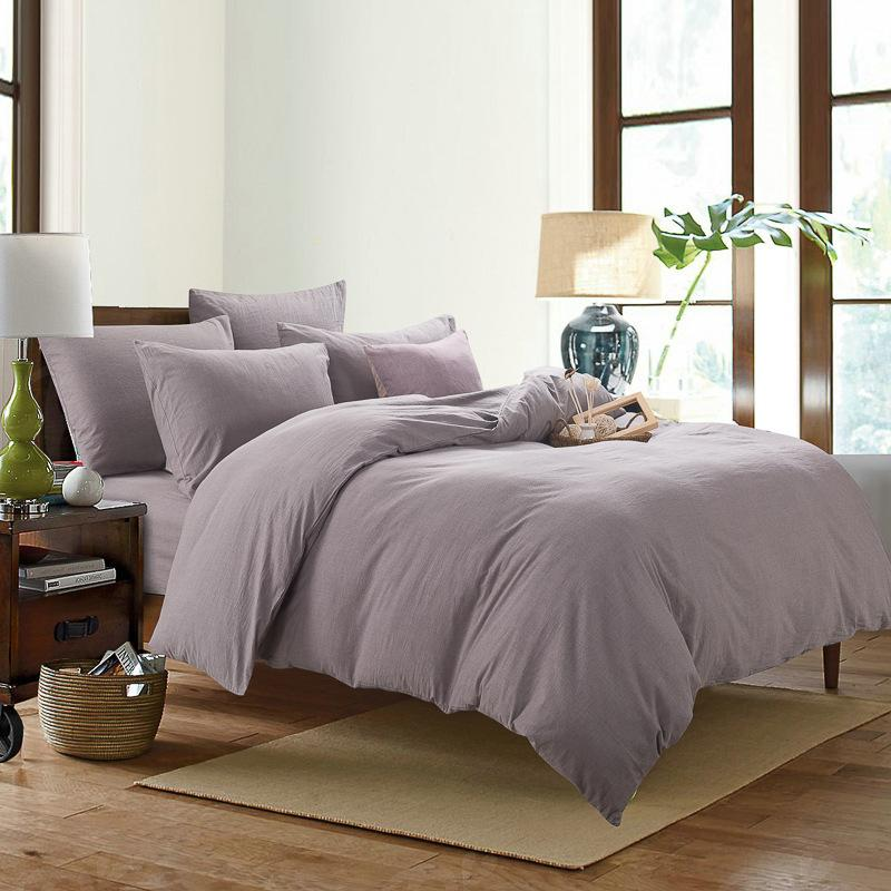 Etonnant 100% Pure Linen Stone Wash Bedding Set Soft Cotton Flat Sheet Fitted Sheet  Pillowcase Twin Queen Full King Size Bed Linen Grey And White Duvet Cover  Gray ...