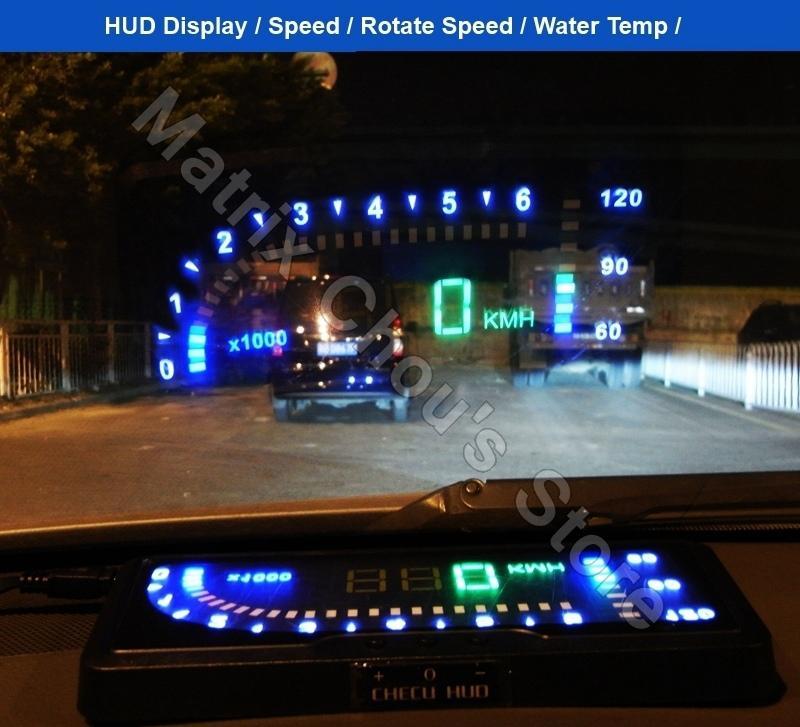2019 universal car hud head up display speed engine. Black Bedroom Furniture Sets. Home Design Ideas