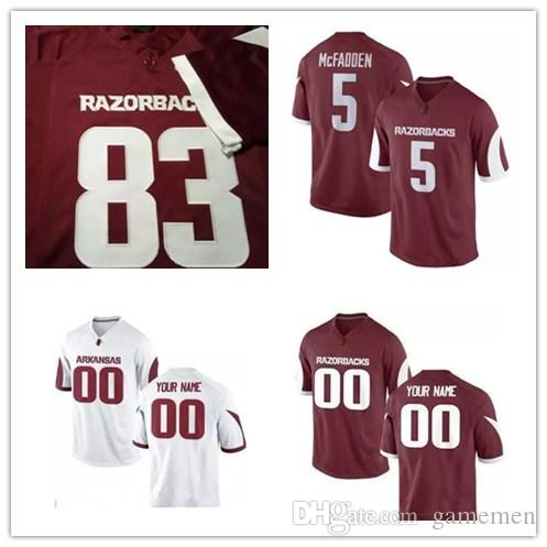personalized arkansas razorback football jersey