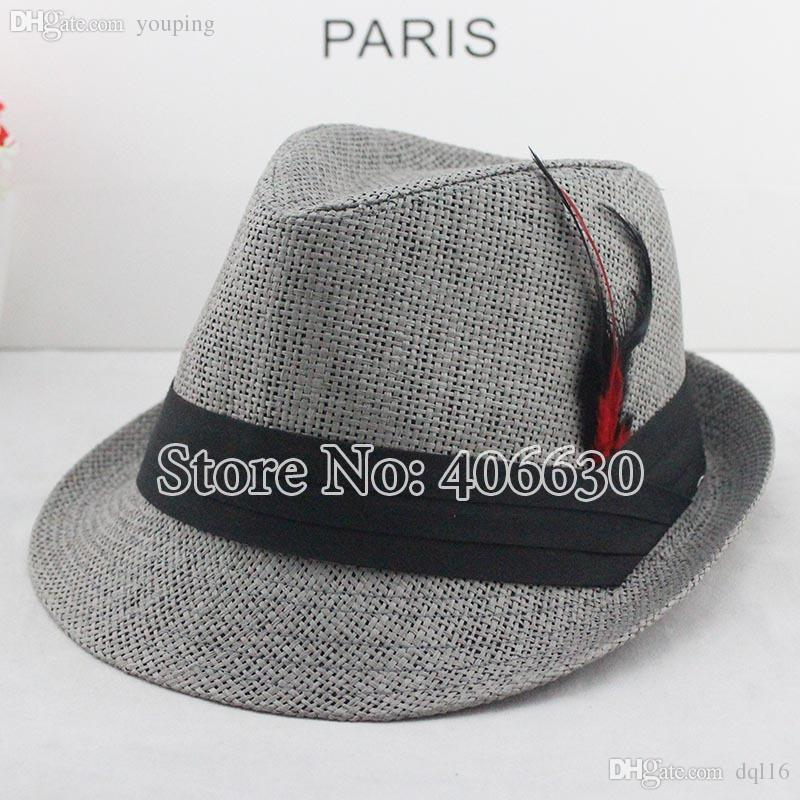 Wholesale-summer Straw Fedora Hats for Men 03eff2f9332