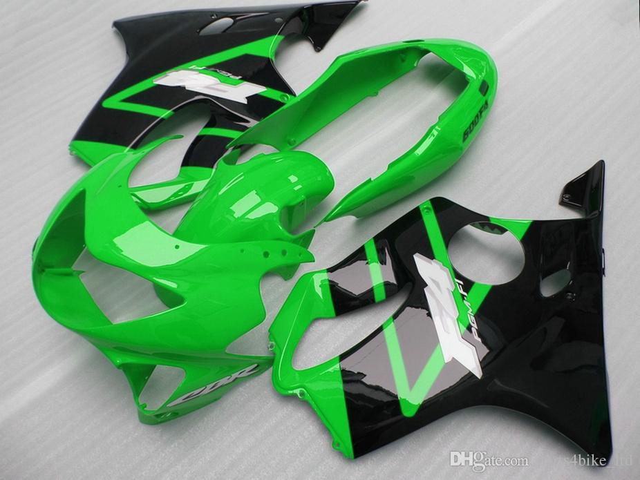 Moldeado por inyección Kit de carrocería verde oscuro para carenados personalizados de Honda 99 00 CBR 600 F4 kit de carenado CBR600 F4 1999 2000 DUXC
