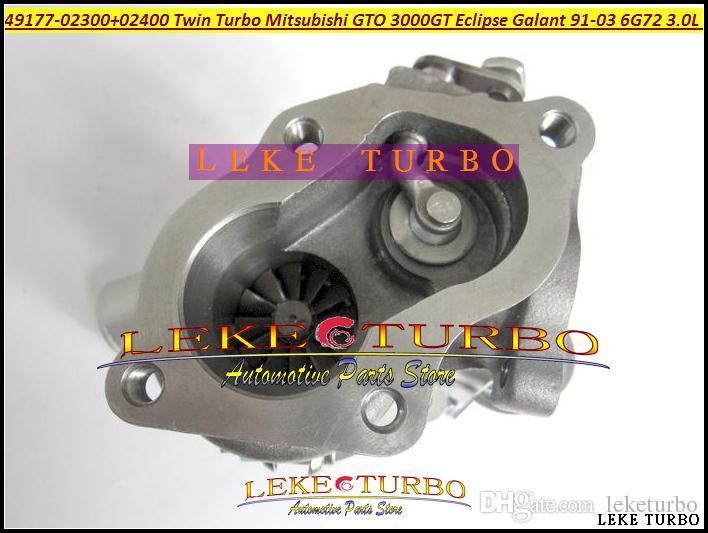 ONE of Twin Turbo TD04 49177-02300 49177-02310 شاحن توربيني لشركة ميتسوبيشي GTO 3000GT Eclipse Galant Dodge Stealth 1991-03 6G72 3.0L 235HP